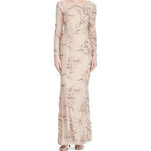 Ralph Lauren gown, champagne/blush